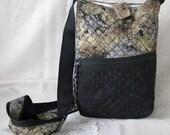 Black brown marble shoulder purse