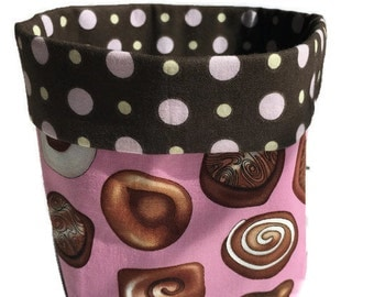 Fabric Bin, Fabric Basket - Chocolates