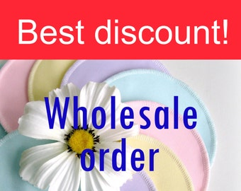 Bulk order - up to 50 percent discount - Nursing pads - Organic Bamboo Velour and PUL - Made to order