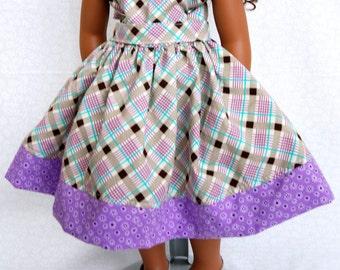 Pretty Shades of Purple 18 inch Doll Dress