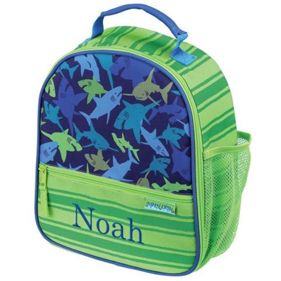 personalized shark lunch bag lunch bag boys shark. Black Bedroom Furniture Sets. Home Design Ideas