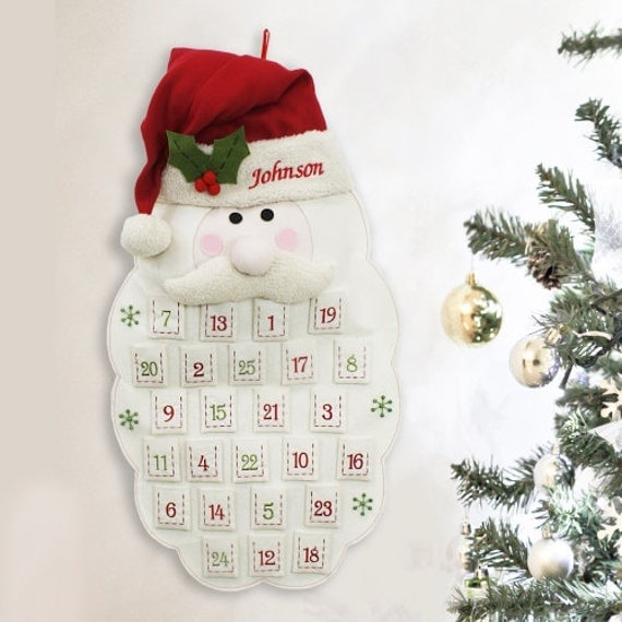 Embroidered Santa Advent Calendar - E973591