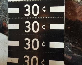 Vintage old paper price tags old price tags general store 30cents