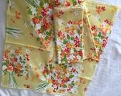 SALE-Vintage Napkin Set- Floral Napkins