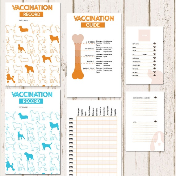 Canine health records prinrable