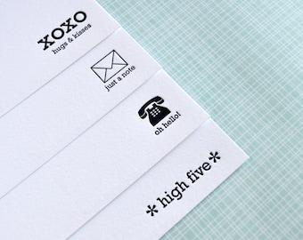 Mini Messages Notecard Set : Letterpress