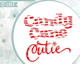 Candy Cane Cutie Design LL135 D - SVG - Cut File - Ai, eps, svg (Cricut), dxf (for Silhouette users), jpg, png files