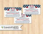 Book instead of a Card Anchor Baby Shower Instant Download