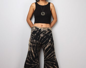Funky Tie Dye Pants - Wide Leg Pants  -  Long Comfy Pants : Tie Dye Collection