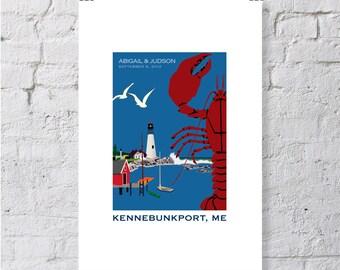 Maine, lobster, keepsake / print