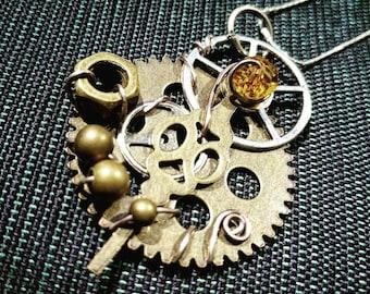 Steampunk Jeweled Necklace