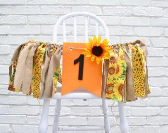 Girl Birthday banner - 1st birthday banner - Sunflower birthday - birthday banner - fall birthday - sunflower decor - pumpkin birthday
