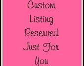 Custom listing for Ginny B