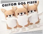 Custom Dog stuffed animal, Customized doggy plush, stuffy toy of your puppy, personalized dog toy doll, custom gift plushie clone