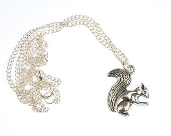 [BUNDLE] Squirrel chain necklace 45 cm forest animals silver