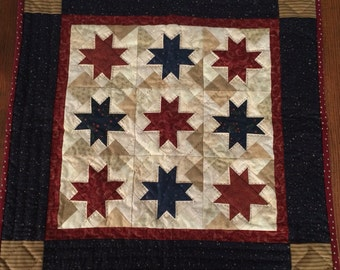 Primitive hand-quilted wall hanging