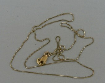 """14kt Box Chain 20.5"""" Made in Italy."""
