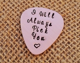 Guitar Pick - Valentine's Day Gift - Personalized Guitar Pick -