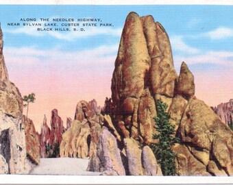 Black Hills, South Dakota, Sylvan Lake, Needles Highway, Custer State Park - Linen Postcard - Unused (OO)