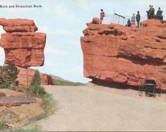Balanced Rock, Steamboat Rock, Colorado - Vintage Postcard - Postcard - Unused (BBB)