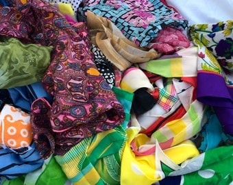 MASSIVE Vintage Scarf Collection Destash