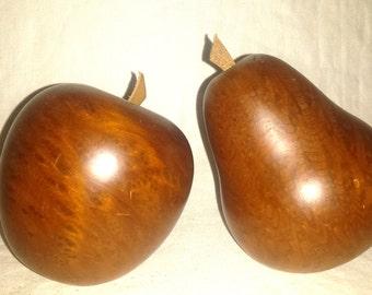 Vintage Teak Wood Fruit Mid Century Decor
