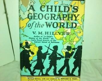 Valentine SALE A Child's Geography of the World by V. M. Hillyer (1951, Hardback)