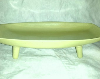 Mid Century Oblong Ceramic Dish with Tapered Legs