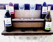 Wine Shelf...Glass Holder..Display Shelf...Floating Shelf...24 Inch or 36 Inch Lengths..FREE SHIPPING