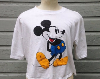 1980's Mickey Mouse crop top t-shirt