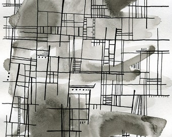 Original Abstract Painting. Black and white abstract art. Original Abstract Art. Ink Painting. Black and White Wall Art. Original art