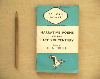 1940s vintage penguin book of poetry Narrative Poems of the XIX Century penguin paperback