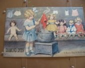 Tin Sign Busy Day in Dollville Diamond Dyes
