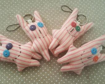 Set of 4 Handmade Key Ring Accessory / Key hanger / Key Chain / key haoders