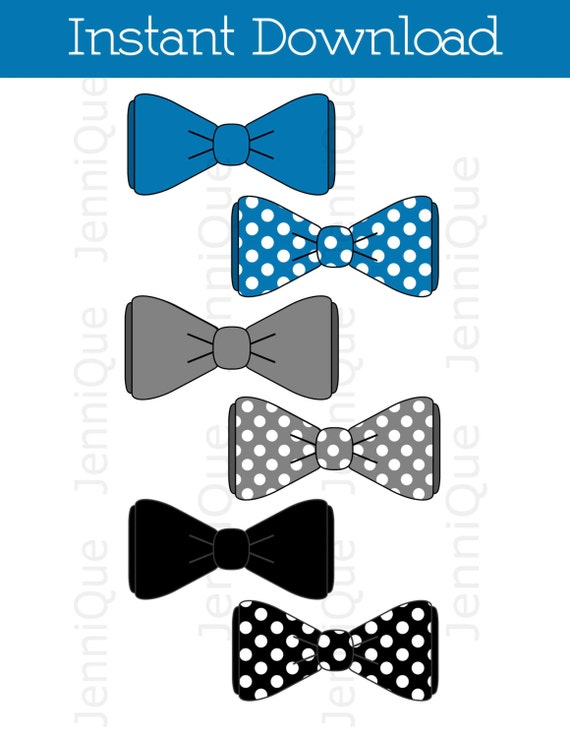 Printable Bow Tie, Bow Tie Cut Outs, Bow Tie Baby Shower Decoration ...