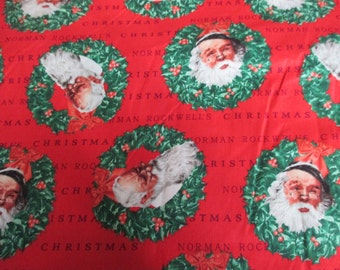 yardage Saturday Evening Post and Norman Rockwell Christmas fabric by Quilting Treasures