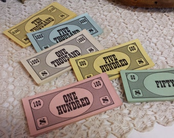 1960's Broad Game Play Money Altered Art Toys Games
