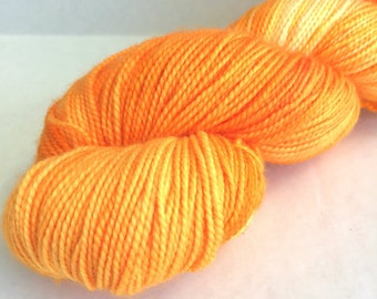Limited Edition Filigree Sock Yarn in Clementine - Exclusive May Yarn Club Colorway - In Stock