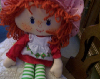 Strawberry Shortcake Doll by Kenner Vintage 1981 Cloth Doll 15""