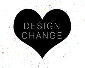 DESIGN CHANGE - add photo or change colors