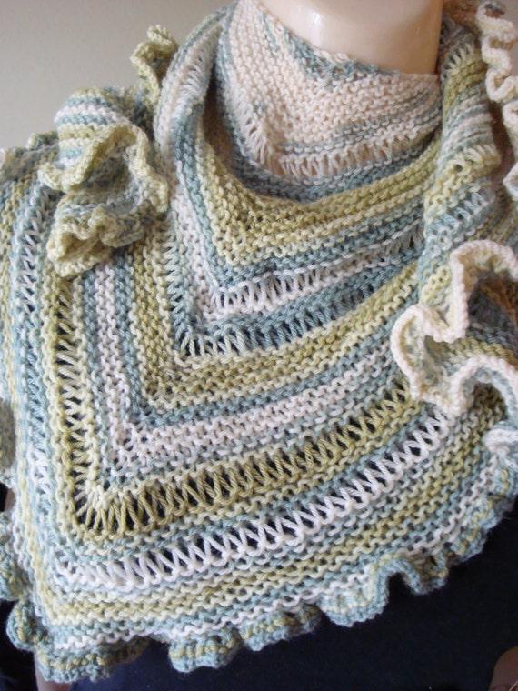 Knitting Patterns For Lightweight Shawls : Grand Rapids shawl knitting pattern, summer shawl pattern, lightweight knit s...