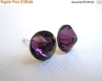 SALE Swarovski Crystal Stud Earrings, Amethyst Stud Earrings, Purple Earrings, Swarovski Crystal, Bridesmaid Earrings, Bridesmaid Gifts