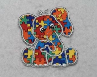 Baby Elephant Autism Awareness Puzzle Piece (small) Tutu & Shirt Supplies - iron on Applique Patch 8007