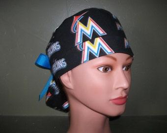 MLB baseball ponytail scrub cap