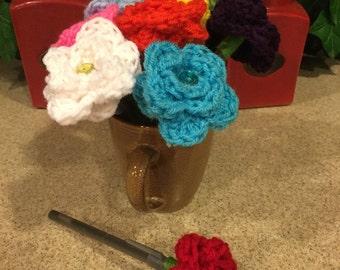 Crochet Flower Pen