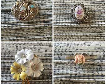 Vintage Brooches - Lot of 8!