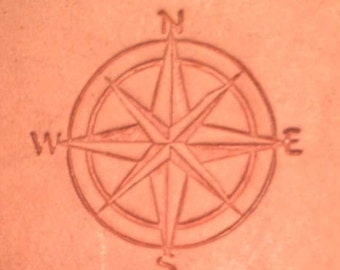 Nautical Compass Motif Stamp (Delrin, leatherwork, embossing)