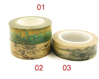 Chinese Painting - Japanese Washi Masking Tape - 11 yards - 1 roll