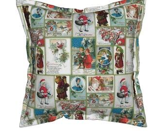 Christmas Pillows, Holiday Pillows, Christmas Holiday Pillows, Christmas Throw Pillow, Christmas Card Pillow, Vintage Christmas Pillow