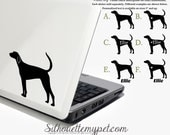 American Foxhound Decal Vinyl Sticker - Silhouette My Pet Design:DOG-AFH01